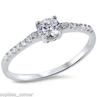 .25 ct. White Topaz Solitaire Ring - Rhodium over Sterling Silver ~ Size 5