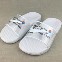 OFF WHITE x NIKE BENASSI Casual Slipper Sandals Shoes