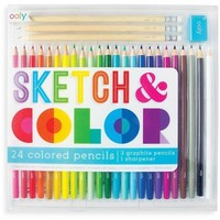 OOLY Sketch and Color Colored Pencil Set - 28 Pieces