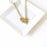 Gold Partners in Crime Necklaces Friendship Necklace MOH Bridesmaids Gift Set