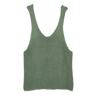 Wool & The Gang Tala Tank Army Green Knitting Kit