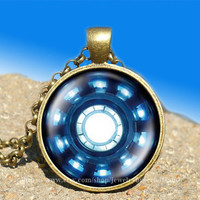 Iron man necklace Heart Arc reactor vintage pendant-necklace ready for gifting Buy 3 and get the 4th one free