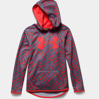 Under Armour Big Logo Hoodie for Girls with Chevron Print 1265688-027