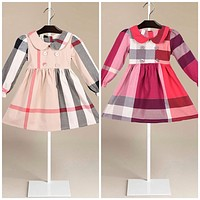Little Girl Plaid Check Dress, Sizes 2 Years - 7 Years