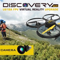 U818A Wifi FPV Drone w/ Altitude Hold | HD Camera and Live Video + Remote Control | For Aerial Photography, Easy to Fly for Expert Pilots & Beginners | Bonus VR Headset + Power Bank | Great Gift Idea