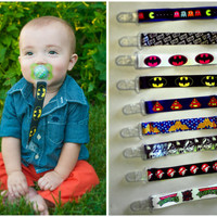 CHARACTER pacifier clips YOU CHOOSE boy and girl options