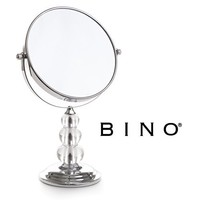PEYOND Makeup Mirror 3.4 Inches Free-Standing Double-sided Can Rotate 360 Degrees 2x Magnification