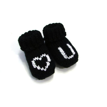 LOVE YOU baby socks, personalized baby booties choose size: newborn, 3-6 month, 6-12 month