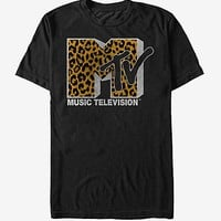 MTV Cheetah Print Logo T-Shirt