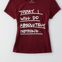 AEO Women's Soft & Sexy Graphic Baby T-shirt (Dark Maple)