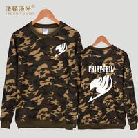 Frdun Tommy Fairy Tail Camouflage Winter Hoodies Casual Classic Japanese Anime Sweatshirt Women Men Hoodie Autumn 4XL Clothes