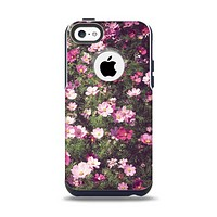 The Vintage Pink Floral Field Apple iPhone 5c Otterbox Commuter Case Skin Set