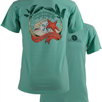 SALE Southern Couture Comfort Colors Beach Shells Salty Kisses T-Shirt