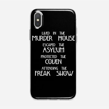 American Horror Story Cover iPhone XS Case