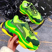 Balenciaga daddy shoes, retro retro color matching, couple casual shoes, high-end platform sneakers