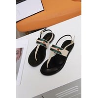 fashion Popular Summer Women's Flats Men Slipper Sandals Shoes