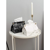 1pc Marble Pattern Tissue Box