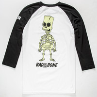 NEFF x The Simpsons Bad To The Bone Mens Glow in the Dark Baseball Tee | Graphic Tees