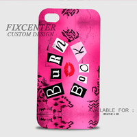 Mean Girls Burn Book 3D Cases for iPhone 4,4S, iPhone 5,5S, iPhone 5C, iPhone 6, iPhone 6 Plus, iPod 4, iPod 5, Samsung Galaxy Note 4, Galaxy S3, Galaxy S4, Galaxy S5, BlackBerry Z10 phone case design