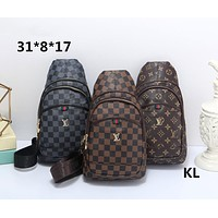 LV Louis Vuitton classic print fashion travel wild men and women pockets chest bag Messenger bag