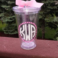 Monogram Tumbler - Bachelorette, Wedding, Gift, Birthday, Special Occasion - BPA Free - 16 oz