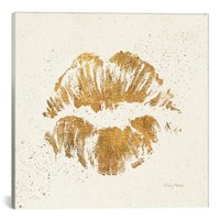 iCanvas 'Golden Lips' Giclée Print Canvas Art | Nordstrom