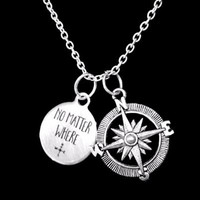 No Matter Where Compass Long Distance Best Friend Sister Mom Gift Necklace