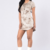 Tied and True Dress - Dark Taupe