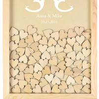 Customized Guestbook Wooden Wedding Decoration