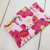 Fabric Wallet, women's wallet, women's gift idea, velcro or snap closure, ready to ship, pink wallet, floral print, cute accessory