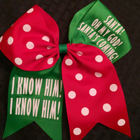 Elf Christmas Hair Bow