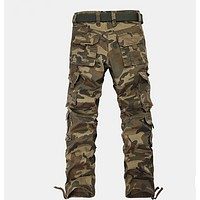 NEW Fashion Mens Cargo Pants Trousers Casual Military CAMO Combat Army