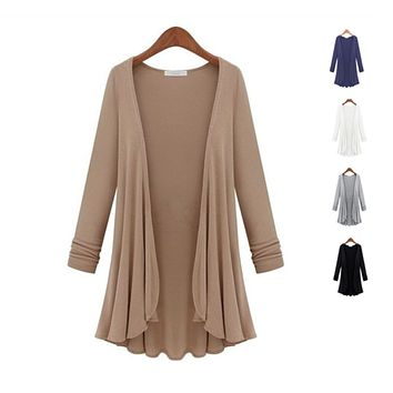 Lux Drapes Classic Cardigans In 5 Colors -Color: White Cream, Size: XLarge