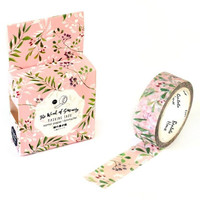 JA314 Fresh Green Leaves & Flowers Decorative Washi Tape DIY Scrapbooking Masking Tape School Office Supply Escolar Papelaria