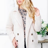 Sherpa Blazer With Buttons And Pockets