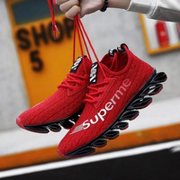 SUROM Men Summer Cushioning Running Shoes Outdoor Light Breathable Jogging Sneakers Traveling Walking Sport Shoes Men Krasovki