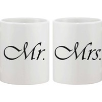 Mr and Mrs Coffee Mugs for Newlyweds - 365 Printing Inc