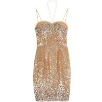 Zuhair Murad Sequin Cocktail Dress
