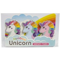 Rainbow Unicorn Memo Tab Set