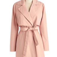 Tulle Clothing Pastel Long Long Sleeve Befit to be Tied Coat