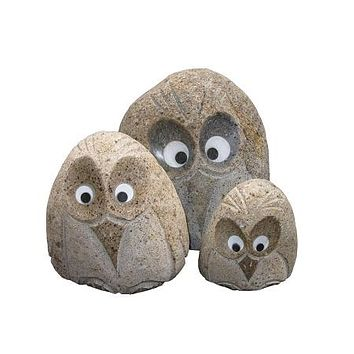 Stone Age Creations VP-AB-1 Boulder Angry Bird Statue Set of 35 Pcs Natural Stone sculptures