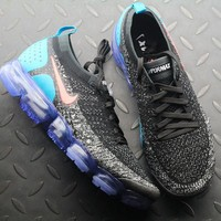 Nike Air VaporMax 2.0 Flyknit Black & Hot Punch 942842-003 Sport Running Shoes - Best Online Sale