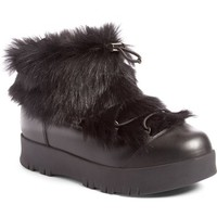 Prada Linea Rossa Platform Snow Boot with Genuine Shearling Trim (Women) | Nordstrom