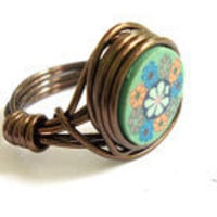 Wire Wrapped Ring, Boho, Hippie Rin.. on Luulla