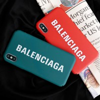 Balenciaga New fashion letter print protective case phone case
