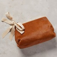 Clare V Mimi Calf Hair Pouch in Cedar Size: One Size Clutches
