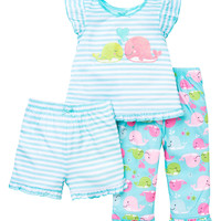 Sweet Whale Poly Pajama Set