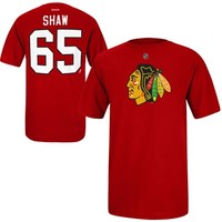 Mens Chicago Blackhawks Andrew Shaw Reebok Red T-Shirt