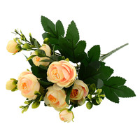 New Multi Color Realistic 6 Branches Spring Artificial Fake Peony Flower Arrangement Home Table Room Decor