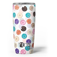 The Colorful Donut Overlay - Skin Decal Vinyl Wrap Kit compatible with the Yeti Rambler Cooler Tumbler Cups